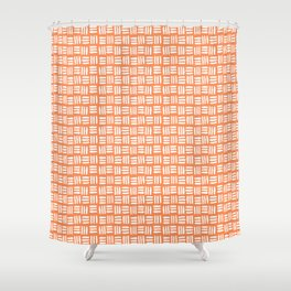 Orange and White Tribal Shower Curtain