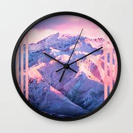 mountain stripe II Wall Clock