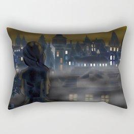 Girl Watching City Rectangular Pillow