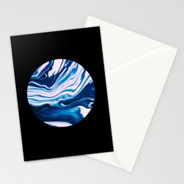 Marble Circle  Stationery Cards