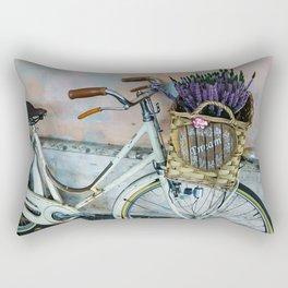 Sognare: Dream BIG Lavender Bicycle Rectangular Pillow