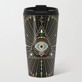 Evil Eye Mandala – Black Travel Mug