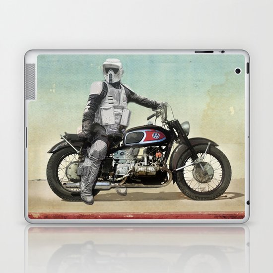 Looking for the drones, Scout Trooper Motorbike Laptop & iPad Skin