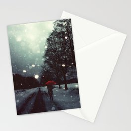 Dark Winter Stationery Cards