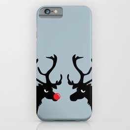 Angry Animals: Rudolph & Prancer iPhone Case