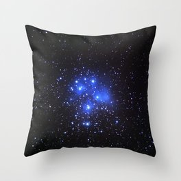 the Pleiades or Seven Sisters in Taurus Throw Pillow