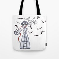 jane eyre Tote Bags featuring Jane Eyre by Natalie Easton