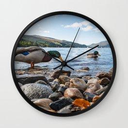 Ducks Loch Tay Kenmore Scotland Wall Clock