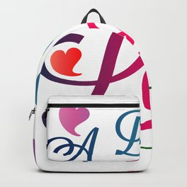 Valentine's Sublimation A Day For Love Backpack
