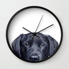 Labrador with white background Wall Clock