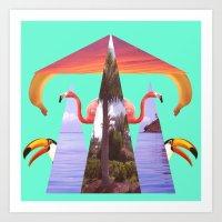 Off Shore Firework Show Art Print