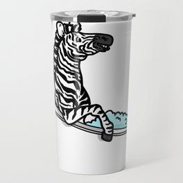 Bathtub zebra Travel Mug