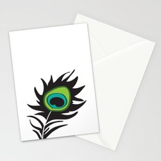 Teal Peacock Stationery Cards
