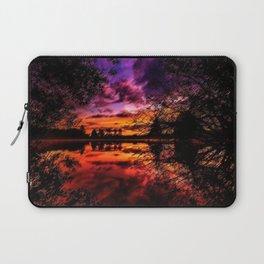 Sunrise on the Scituate Reservoir Landscape Painting by Jeanpaul Ferro Laptop Sleeve