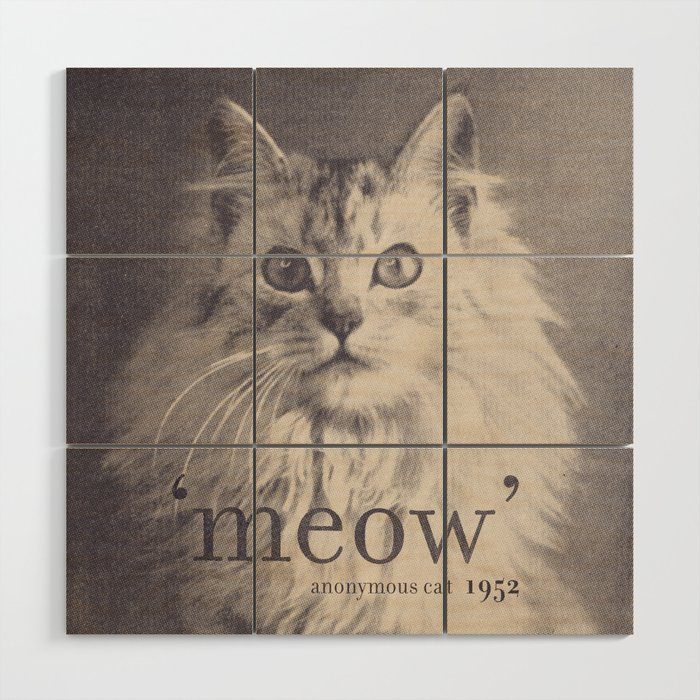 Famous Quotes 2 Anonymous Cat 1952 Wood Wall Art By Speakerine