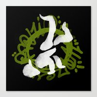 hiphop Canvas Prints featuring Hiphop by Lydia Wingbermuhle