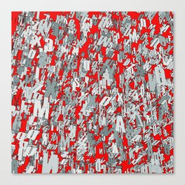 The letter matrix RED Canvas Print