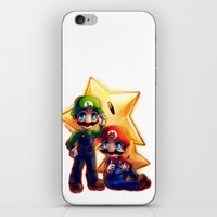 mario bros iPhone & iPod Skins featuring Mario Bros. by StephanieIllustrations