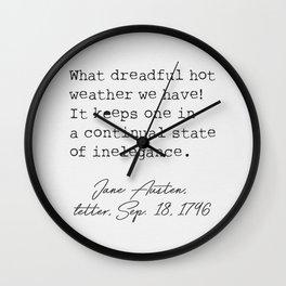 Jane Austen 18 Wall Clock