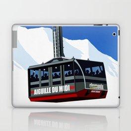 Chamonix Ski Resort , Aiguile du Midi Cable Car Laptop & iPad Skin