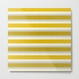 Yellow and black lines Metal Print
