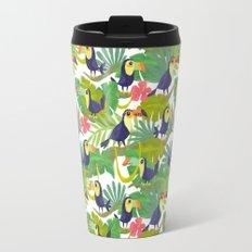 Toucan Paradise Pattern Travel Mug