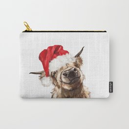Christmas Highland Cow Carry-All Pouch