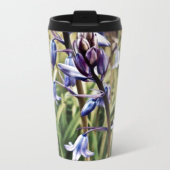 Bluebells, Magical Flowers Of Spells Metal Travel Mug