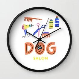Dog salon concept shirt Wall Clock