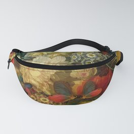 """""""Baroque Spring of Flowers and Butterflies"""" Fanny Pack"""