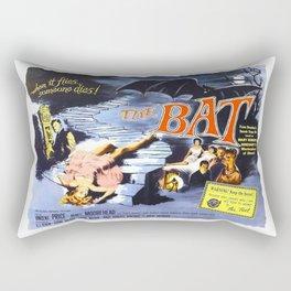The Bat, vintage horror movie poster Rectangular Pillow