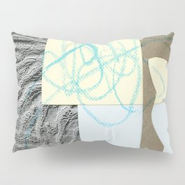 collage with map Pillow Sham