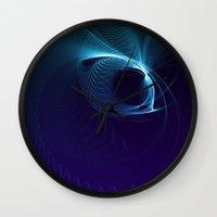 matrix Wall Clocks featuring Blue Matrix by zAcheR-fineT