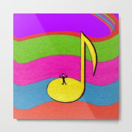 A Cheery Note -- Music Note Metal Print