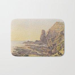 Castle Rock, Cape Schanck by Eu von Guerard Date 1867  Romanticism Series Australian Landscapes Bath Mat