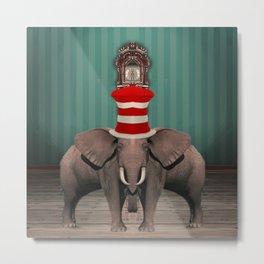 Cojoined Elephants Metal Print