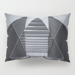 The Hotel (experimental futuristic architecture photo art in modern black & white) Pillow Sham