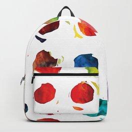 Abstract watercolor circles Backpack