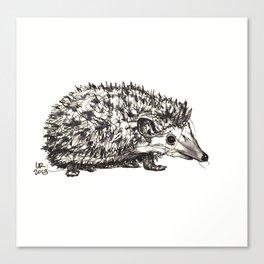 Woodland Creatures: Hedgehog Canvas Print