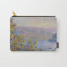 Flower Beds at Vetheuil by Claude Monet Carry-All Pouch