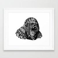 gorilla Framed Art Prints featuring Gorilla by BIOWORKZ