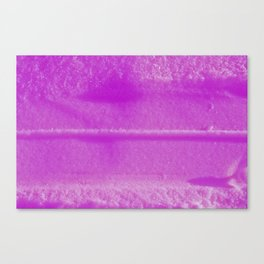 Pink trace in snow Canvas Print