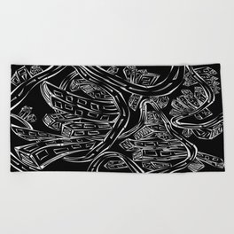 Entangled City Inverted Beach Towel