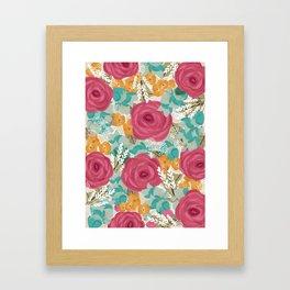 Colorful pattern Framed Art Print