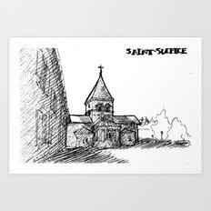 The church of sorrow: Saint-Sulpice Art Print