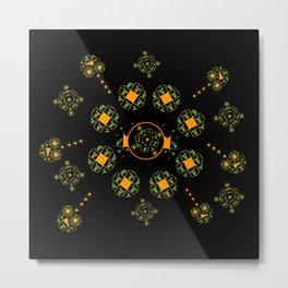 Orange and Green Spaces 115 Metal Print