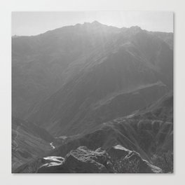 Top of the Rockies B&W Canvas Print