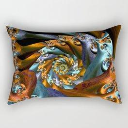 Spiraled Tabbies Rectangular Pillow