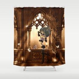 Little dark fairy in the night Shower Curtain