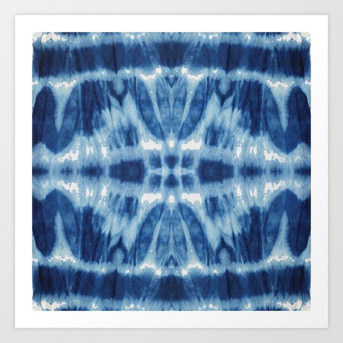 069d2c378ebe Tie Dye Blues Twos Art Print by ninamay